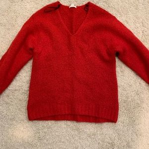 H&M chunky red sweater